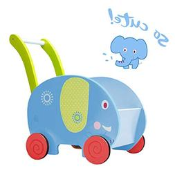 Baby Walkers Walker With Wheel, Blue Elephant Walker, 2-in-1