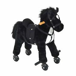Qaba Kids Walking Horse Ride on Pony Rocking Toy Neigh Sound