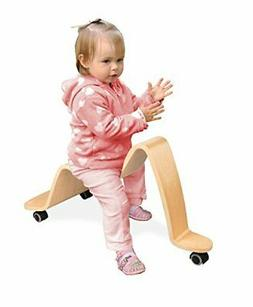 Wave Wooden Scooter - Solid Wood - Ride On Bike Wheels Move