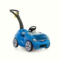 Step2 Whisper Ride II Kids Blue Ride On Toy Push Car Outdoor