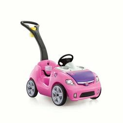 Step2 Whisper Ride II Kids Pink Ride On Toy Push Car Girls O