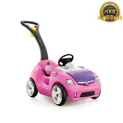 Step2 Whisper Ride II Pink Ride In Toddler Push Car Horn Sto