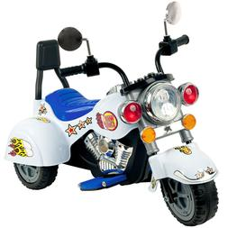 Lil' Rider White Knight 3-Wheeler Motorcycle, White