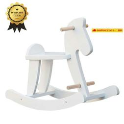 Labebe - Wooden Rocking Horse, Baby Wood Ride On Toys For 1-
